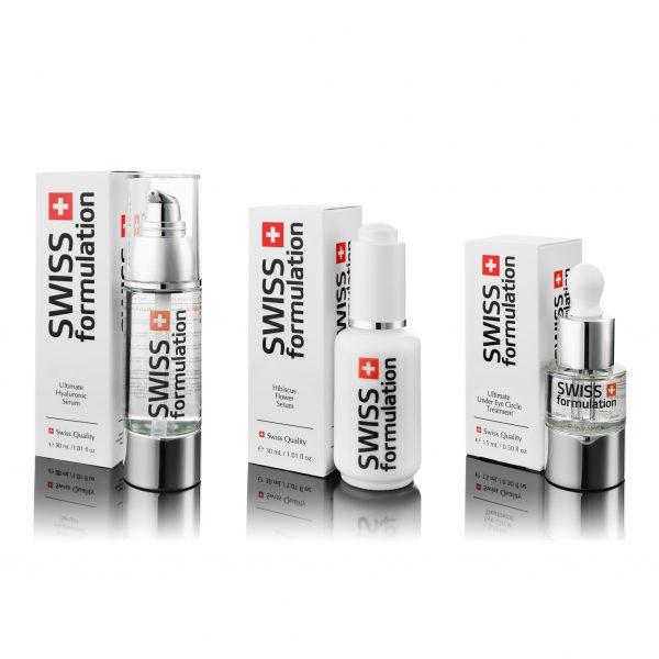 Swiss Formulation - Ultimate Hyaluronic Serum + Hibiscus Flower Serum + Ultimate Under Eye Circle Treatment