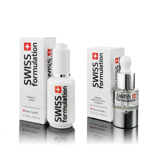 Swiss Formulation - Vitamin C Serum  + Ultimate Under Eye Circle Treatment